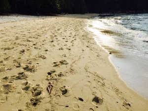 Our footprints at Perhentian Bay!