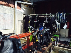 All 'gear'ed-up for Scuba Diving!!!