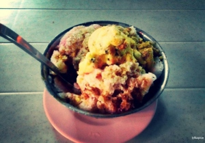 ABC with red beans, sweet corn, jellies and cendol