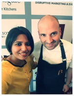With George Calombaris at WOAP press conference
