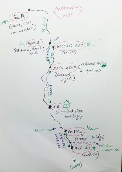 Vietnam map sketch
